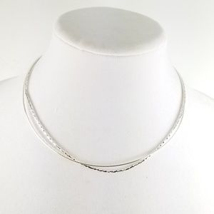 """Sterling Silver 17"""" Set of 2 Omega Wires"""